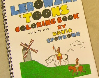 The Big Lebowski Adult Coloring Book. Lebowski 'Toons Coloring Book. A Lunar Eclipse cartoon coloring book.