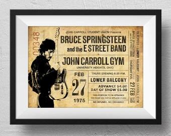 Bruce Springsteen Poster, concert poster, Bruce Springsteen concert, retro concert poster, Bruce Springsteen souvenir, original design