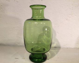 Per Lutken for Danish glassworks Holmegaard, modernist art glass vase from the May Green series, Scandinavian Modern, 1960s