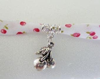 Cherry Liberty pattern bracelet Kit + n ° 2 - cherry charm