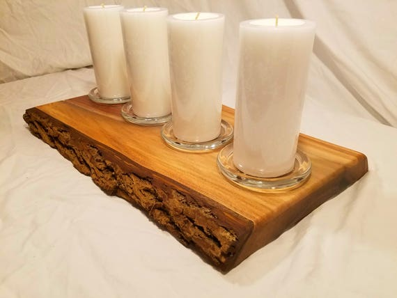 Walnut Live Edge Advent Candle holder