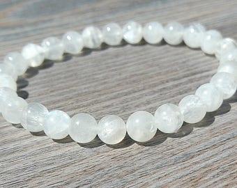 Fines stones Grade A moon stones bracelet 6mm