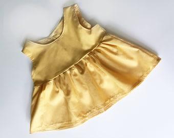 Butter Bloomie Top, yellow peplum, peplum top, baby top, baby girl peplum, toddler peplum, natural top, yellow baby shirt
