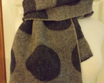 Vintage Gene Meyer Wool Circle Scarf, Designer Scarf, Fall Scarf, Winter Scarf, Retro Fashion, BOHO Fashion, Made In Italy, Wool Scarf