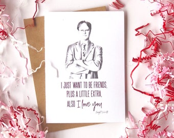 The Office Card-Dwight Schrute-Dunder Mufflin-Love-Valentine's Day Card-Boyfriend-Girlfriend-Greeting Card-Funny Relationship Cards-