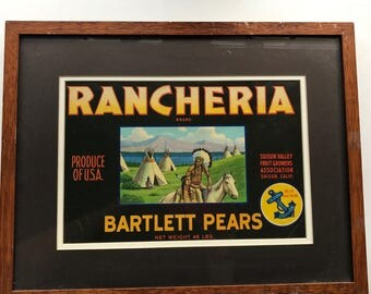 Vintage box lable framed
