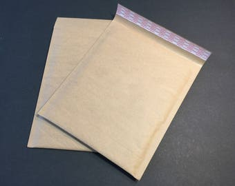 20 Eco Friendly 8.5x12 Size 2 Brown Kraft Bubble Mailers Extra Lightweight Self Sealing Padded Envelopes