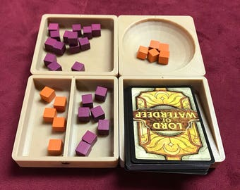 Square Token Tray / Tiles - 4 Trays per Order - Great for Board Games - Magnetized - Great Organizers / Containers for your Game Bits