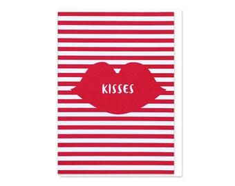Kisses Stripes Love Card