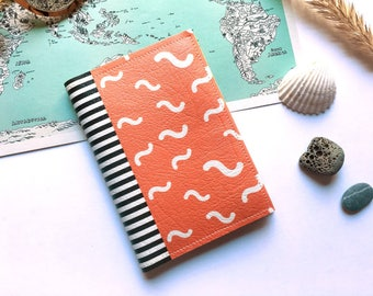 Passport cover, Vegan passport holder, Passport case , Vegan leather, Printed fabric cover, Colorful passport, Printed passport, Travel gift