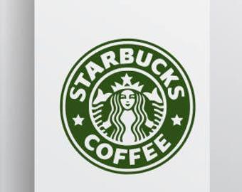 Starbucks Logo SVG; SVG; Silhouette File; Cricut File; Cameo File; Cut file; Starbucks SVG; Starbucks;