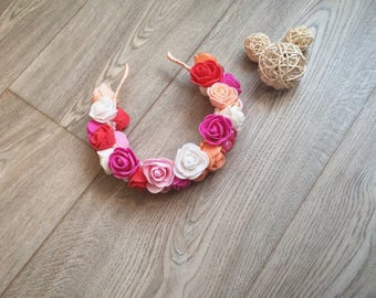 Floral handmade hairband with roses