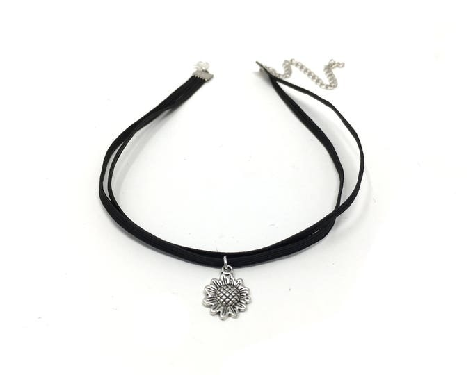 SUNFLOWER: double cord elastic choker