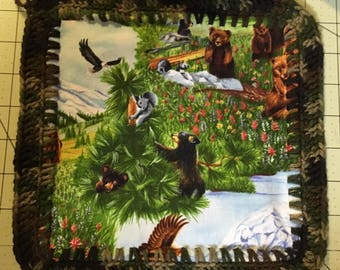Wildlife Pot Holders Or Hot Pads 2 in a set