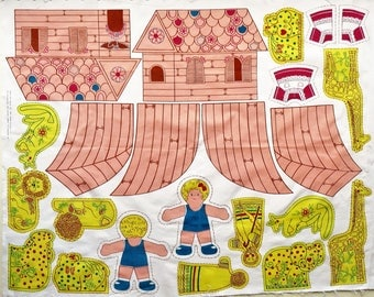 Vintage Woman's Weekly cut and sew Noah's Ark/Doll panel