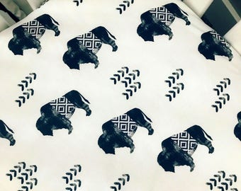 Buffalo, tribal baby bedding | aztec crib sheet | buffalo baby bedding | baby boy | baby bedding | arizona | woodland | animal nursery |
