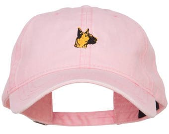 Great Dane Head Embroidered Washed Cap
