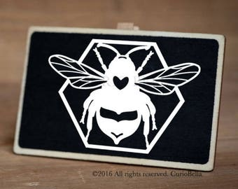 Bumble Bee Vinyl Decal, Bee Decal, Bee Vinyl, Laptop Sticker, Laptop Vinyl, Laptop Decal, Car Decal, Window Sticker, Bee Sticker