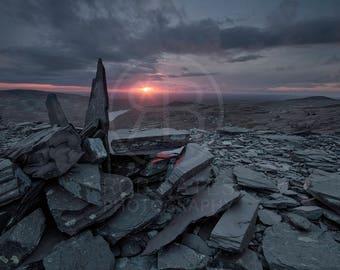Landscape Photography Print. Dinorwic slate mine,Llanberis,Snowdonia,Wales,U.K