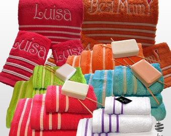 Top Quality Bath Towels 500gsm Ref. Veludo – 3 Pieces Set - Bath Sheet, Hand Towel, Guest Towel – Various Colors