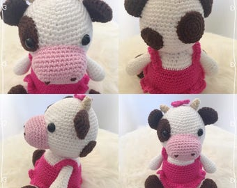 """Daisy inspired pattern """"the cow Clementine"""" cow Little Muggles"""