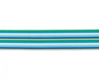 1m rubber band 4cm wide, green blue white soft turquoise of boys