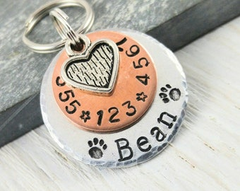 Pet ID Tag - Cat Id Tag - Dog Tag for Dogs - Dog ID Tag - New Puppy Announcement - Cat Name Tag -  Dog Lover Gift - Stocking Stuffer