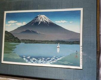 Lake Shoji Woodblock Print by Tsuchiya Koitsu