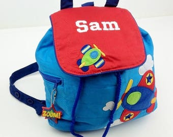 Personalised Stephen Joseph Aeroplane Backpack