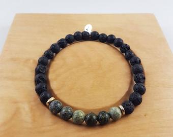 Strike a Balance Bracelet - Lava Diffuser Bracelet