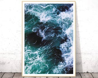 Ocean Print, Ocean Wall Art, Ocean Waves Print, Ocean Photography, Beach Decor, Ocean Art, Printable Art, Sea Print, Ocean Printable, Waves