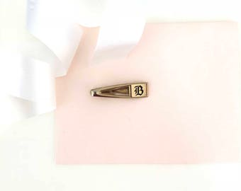 Hickok - Hickok Tie Clip - Letter B - Personalized Tie Clip - Tie Bar - Engraved Tie Clip - Gift for Husband - Groomsmen Gift - B - Ties