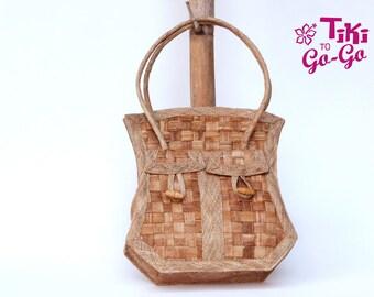Rustic Beach Bag : Straw Shoulder Bag