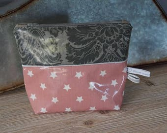 Toiletry bag in coated canvas