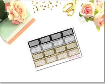 Neutral Glitter Squared Half Boxes