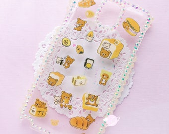 Rilakkuma Bakery Note 3 Resin case, kawaii decoden, resin phone case, rilakkuma decoden case