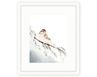 Winter Sparrow Print