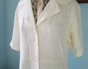 1940s vintage white dress; pin up; rockabilly; housewife; white lace