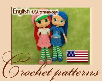 Strawberry Shortcake and Blueberry Muffin - Amigurumi Crochet Patterns PDF files by Anna Sadovskaya