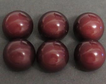 Vintage Grp of 6 Domed Celluloid or Plastic Buttons