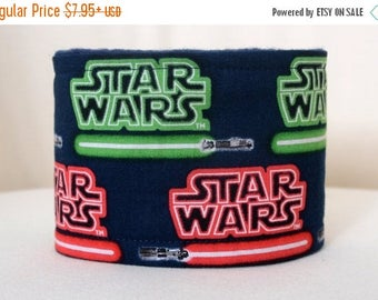 Belly band for male dog - Male dog diaper - Male dog wrap - Small to Large Dog - Made from Star Wars Light Saber fabric - READY TO SHIP