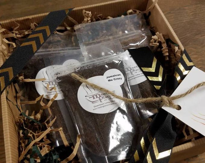Junior Coffee Sampler, Variety of 3 Whole Bean or Ground Coffees, Coffee Gift Set, Thank You Gift, Birthday Gift, For Her, For Him