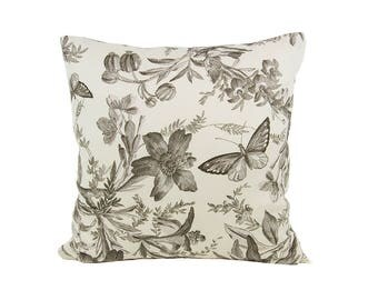 Butterfly Floral Pillow