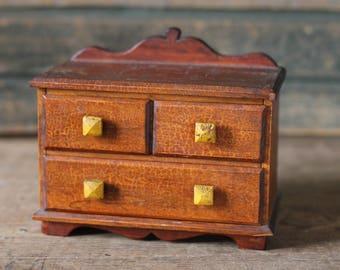 Small, wooden jewelry box