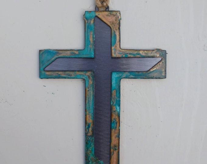 Patina Modern Cross