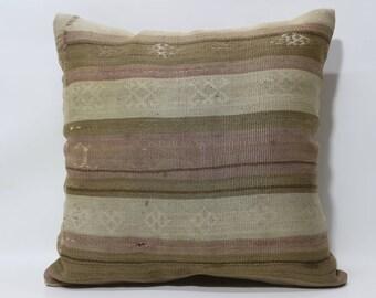 24x24 Bohemian Kilim Pillow Sofa Pillow Throw Pillow 24x24 Handwoven Kilim Pillow Decorative Kilim Pillow Cushion Cover  SP6060-1239