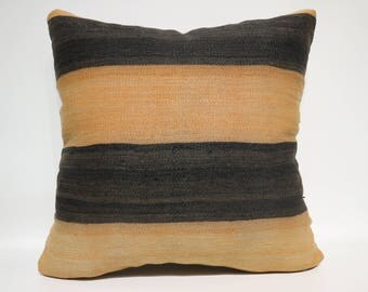 Bohemian Kilim Pillow Throw Pillow Sofa Pillow 20x20 Striped Kilim Pillow Decorative Kilim Pillow Ethnic Pillow Cushion Cover  SP6060-1434