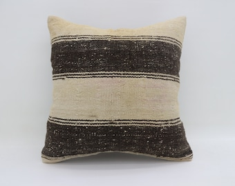 Kilim Pillows Black And White Pillows Handmade Pillows 20x20 Turkish Kilim Pillows Big Throw Pillows Large Cushion Cover Pillows SP5050-2570