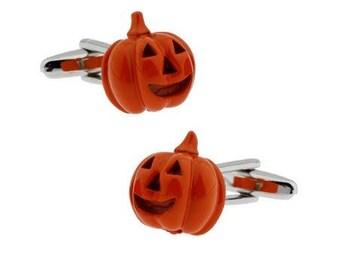 Orange Pumpkin Cufflink -k132 Free Gift Box**