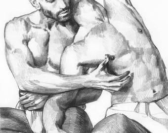 Sketch N52. A4. Original drawing.
